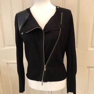 Karen Millen black motorcycle sweater